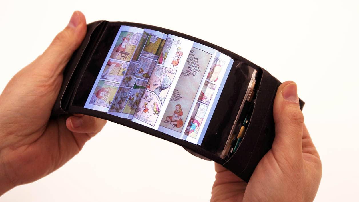 Téléphone portable à écran flexible
